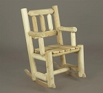 Unstained Natural Cedar Porch Rocker Chair