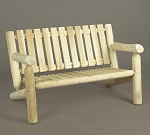 Unstained Natural Cedar Settee Bench
