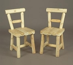 Unstained Natural Cedar Solid Seat Dining Chair
