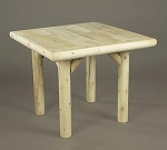 Unstained Natural Cedar Solid Top Dining Table