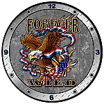 Forever Wild Metal Clock