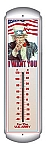 Uncle Sam Metal Thermometer