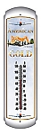 American Gold Metal Thermometer