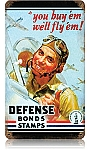 Defense Bond Stamps Vintage Metal Sign