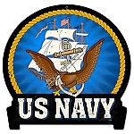 Navy Emblem Metal Sign