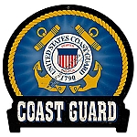 Coast Guard Emblem Metal Sign
