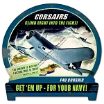 Corsairs For Your Navy Vintage Metal Sign