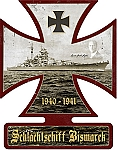 Bismarck Cross Vintage Metal Sign