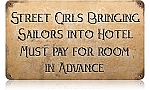 Street Girls Vintage Metal Sign