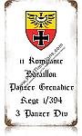 Panzer Grenader Vintage Metal Sign