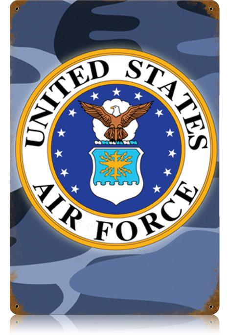 Air Force Vintage Metal Sign