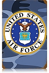Air Force Vintage Metal Sign