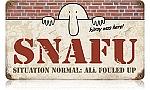 SNAFU Vintage Metal Sign