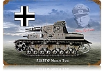 Panzer IV Medium German Tank Metal Sign