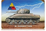 Sherman Tank Vintage Metal Sign