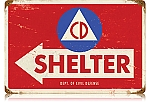 Civil Defense Vintage Metal Sign