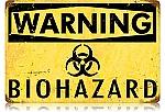 Biohazard Vintage Metal Sign