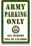 Army Parking Vintage Metal Sign