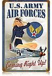 Air Forces Pin Up Vintage Metal Sign