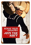 Serve Your Country Vintage Metal Sign