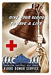 Red Cross Bell Vintage Metal Sign