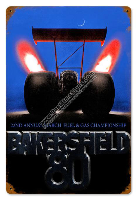 22nd Annual Bakersfield Championship Vintage Metal Sign