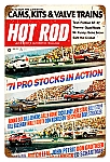 Hot Rod Magazine Pro Stocks Vintage Metal Sign