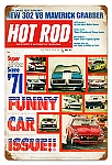 Hot Rod Magazine Funny Cars Vintage Metal Sign