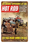 Hot Rod Magazine Dirt Track Vintage Metal Sign