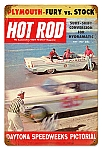 Hot Rod Magazine Daytona Vintage Metal Sign