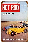 Hot Rod Magazine Drag Strips Vintage Metal Sign