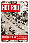 Hot Rod Magazine N.Y.C. Roadsters Vintage Metal Sign