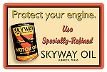 Skyway Oil Vintage Metal Sign