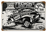 Freemont Drag Strip Vintage Metal Sign