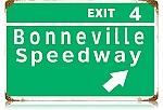 Bonneville Speedway Vintage Metal Sign