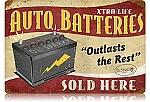 Auto Batteries Vintage Metal Sign