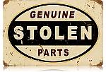 Stolen Parts Vintage Metal Sign