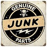 Junk Parts Vintage Metal Sign