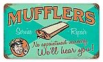 Mufflers Vintage Metal Sign
