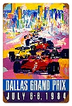 Dallas Grand Prix Vintage Metal Sign