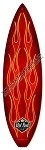 Von Hot Rod Red Flame Surfboard Metal Sign