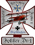 Fokker DR-1 Vintage Metal Sign