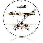 F-14A Tomcat Round Metal Sign