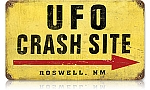 UFO Crash Site Vintage Metal Sign