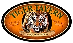 Tiger Tavern Vintage Metal Sign