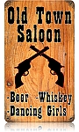 Old Town Saloon Vintage Metal Sign