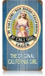 So. Cali Girl Lager Vintage Metal Sign