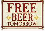 Free Beer Vintage Metal Sign