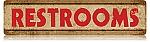 Restrooms Vintage Metal Sign