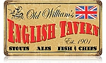 Old William's Tavern Vintage Metal Sign